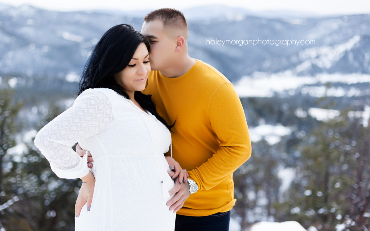 Denver Maternity Photo Shoot, Denver Maternity Photographer, Denver Snow Photo Shoot, Denver Snow Session, Denver Snow Photography, Mount Falcon Golden Colorado, Mt. Falcon Colorado, Mount Falcon, Mount Falcon Snow, Mount Falcon Snow Photography, Mount Falcon Maternity Session, Mount Falcon Snow Photo Shoot, Haley Morgan Photography, Denver Photographer, Colorado Photographer, Linda Medina, Denver Lifestyle Photographer