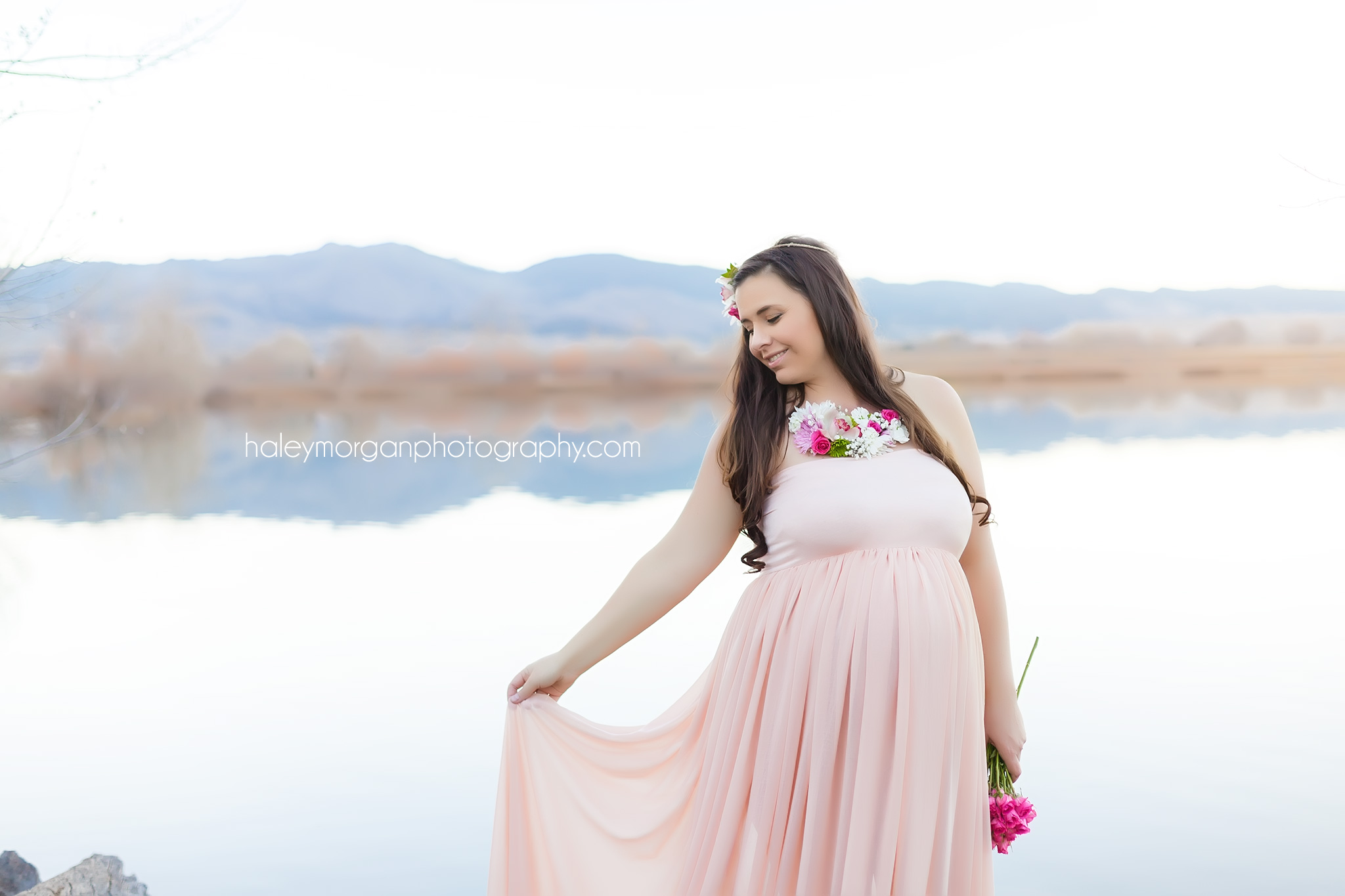 Boulder Maternity Photographer, Boulder Maternity Session, Coot Lake, Coot Lake Boulder, Coot Lake Maternity Session, Coot Lake Photography, Denver Maternity Photographer, Denver Maternity Session, Denver Photographer, Haley Morgan Photography, Leah Maria Couture, Stiletto Events, Stiletto Events Denver, Oakes Fields Floral, Oakes Fields Floral Denver, Cydney Johnson, Flower Crowns, Flower Necklace, Floral Crown, Floral Necklace, Floral Crown Maternity Photoshoot, Floral Crown Maternity, Denver Wedding Photographer, Denver Engagement Photographer, Maternity Session Balloons, Balloons Photoshoot